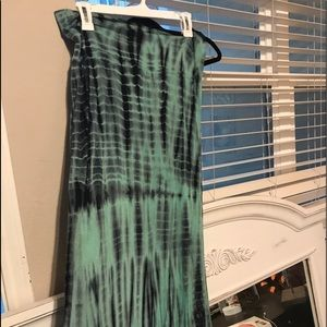 Blue Tye dye maxi skirt